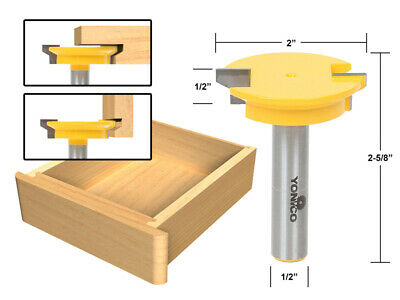 """Drawer Front Joint Router Bit - Reversible - 1/2"""" Shank - Yonico 15133"""
