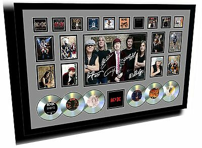 New Acdc Angus Young Brian Johnson Signed Limited Edition Framed Memorabilia