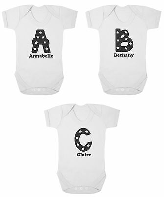 Baby Bodysuit - Personalised Bodysuit - Any Letter and Name