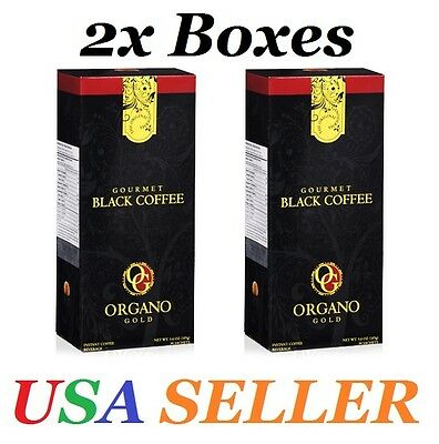 2 Boxes ORGANO GOLD GOURMET BLACK COFFEE WITH GANODERMA LUCIDUM FREE SHIPPING!