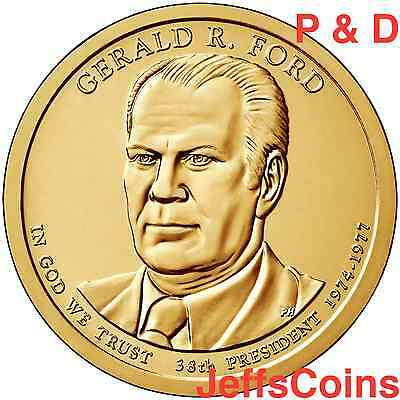 2016 P&D Gerald Ford Presidential Golden Dollars Best Price PD 2 Coins 16PP