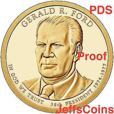 2016 PDS Gerald Ford Presidential Golden Dollar Best Grade Coin P D S Proof 16PN