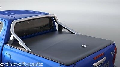 Toyota Hilux Tonneau Cover Dual Cab Sr5 From July 2015> Flush Mount New Genuine
