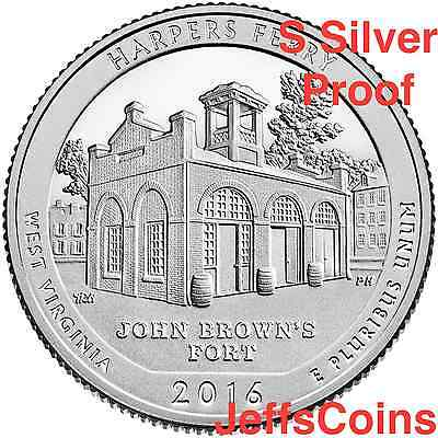 2016 S Harpers Ferry National Historical Park 90% Silver Proof via U.S.Mint Set