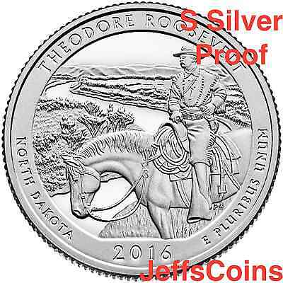 2016 S Theodore Roosevelt National Park 90% Silver Proof via U.S.Mint Set Teddy