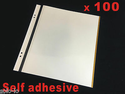 BULK 100 x Photo Album Scrapbooking Self - Adhesive Refill Sheet 32.3cm x31.5cm