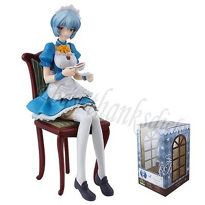 "EVA Evangelion Rei Ayanami Maid Ver.7.2"" 1/7 Scale Pre-Painted Figure New In Box"
