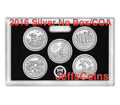 2016 S America the Beautiful QUARTER 90% Silver Proof Set US Mint All 5 Coins AQ