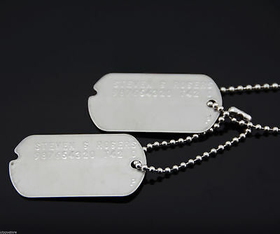 Avengers Captain America Stainless Steel Military Dog Tags Cosplay Costume Prop