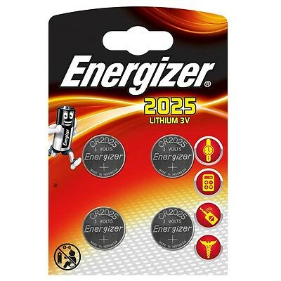 4 x CR2025 Battery Energizer Brand 3v Lithium Great Value!
