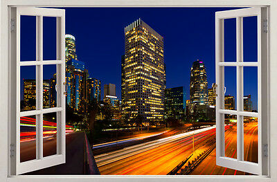 Los Angeles City Night View 3D Effect Wall Sticker Art Decal Mural