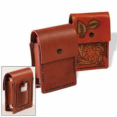 CIGARETTE and LIGHTER CASE -  LEATHER KIT BY TANDY