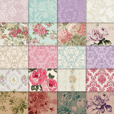 exclusive 40/20pc assorted elegant floral lace damask scrapbook paper 20 design