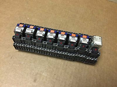 Schrack PT570024 Cube Relays 6 of these Plus 1 Omron MY4   Lot of 7