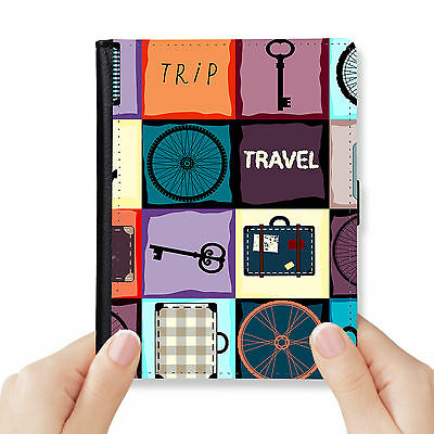 Travel Genuine Leather Rfid Blocking Passport Cover Wallet Organizer