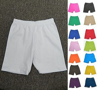 Made In Usa Girls Cotton Spandex Leggings Shorts Bermuda Many Colors 2 -14