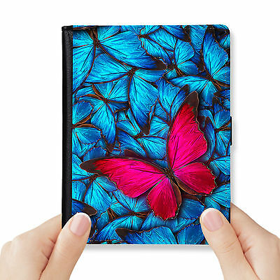 Butterfly Genuine Leather Rfid Blocking Passport Cover Wallet Organizer