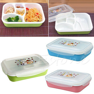 Separated Bento Lunch Box Set Utensils Picnic Food Storage Containers Microwave