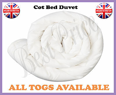 Anti-Allergic Cot Bed Duvet/Quilt For Baby Nursery Toddler All Sizes Available