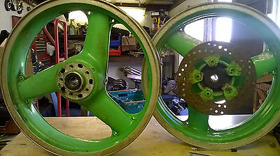 kawasaki zxr750 1989 front and rear wheel