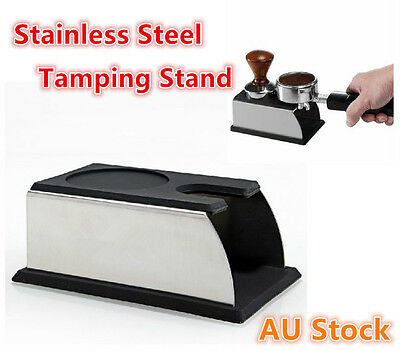 Coffee Tamper Holder Barista Tamping Station Espresso Tool Accessory Stand New
