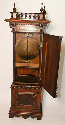 Great Sounding Antique Coin Operated Upright Symphonion Disc Music Box