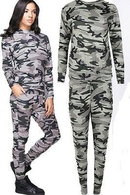 New Girls Grey Camouflage Tracksuit Set Sweatshirt & Leggings Age 7 8 9 10 11 12