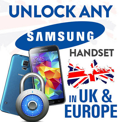 Unlock Code For Samsung Galaxy A3 S5 S4 S3 Note 4,3 All Models Uk Network Only
