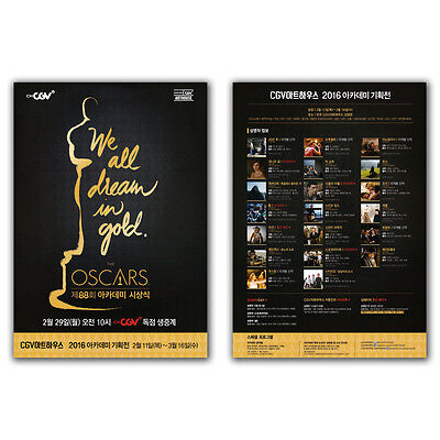 The OSCARS 2016 Academy Awards 88th Poster Movie Nominees Best Picture Directing