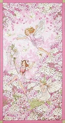 Petal Flower Fairies Patchwork Fabric Panel By Cicely Mary Barker - Fairy Garden