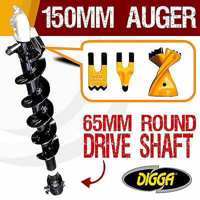 NEW 150mm Auger Drill Bit Post Hole Earth Augers Drilling Tungsten 12 Inch Bits