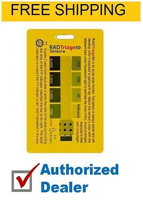 RAD Triage 50 Personal Radiation Detector for wallet or pocket, Free Shipping
