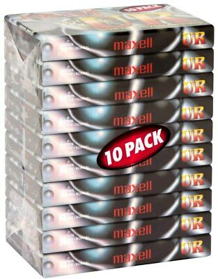 10 Pack Maxell UR90 90 Minutes Blank Audio Media Recording Cassette Tapes - NEW