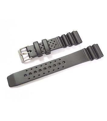 Black Rubber Resin Watch Strap Casio Divers Digital Watches 18mm,20mm,22mm,24mm