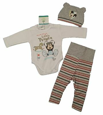 Neu! Mickey Mouse Baby-Set in 2 Farben Baumwolle Gr. 56/62/68/74/80
