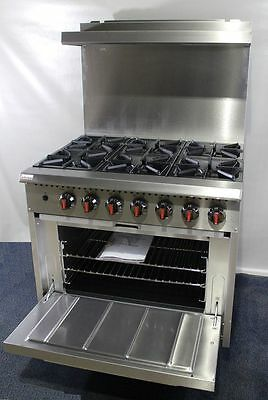 New Infernus 6 Burner Gas Range Cooker with Oven, commercial kitchen cooker