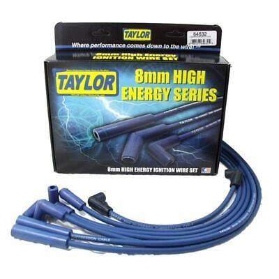 Taylor Spark Plug Wire Set 64632; High Energy 8mm Blue for Chevy 6 Cylinder