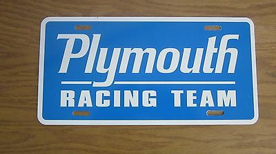 Plymouth Racing license plate tag 1969 Road Runner 1970 Hemi CUDA 1971 Duster 72