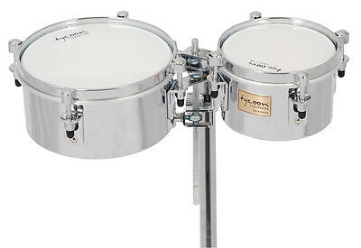 Tycoon Percussion 6 & 8 Chrome Shell Mini Timbales - Universal Mounting Bracket