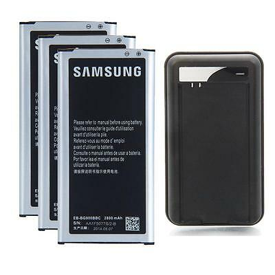 3X 2800mAh Batteries EB-BG900BBC + Charger for Samsung Galaxy S5 i9600 Non NFC