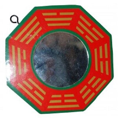 1 x Chinese Fengshui  Bagua Bagwa with Glass Mirror Hanging 100mm(BW023)