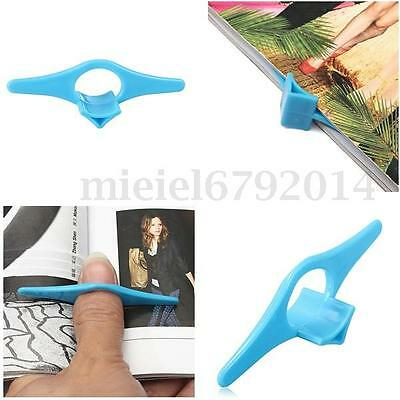 UK Thumb Book Page Holder Bookmark Plastic Multifunctional Reading Aid