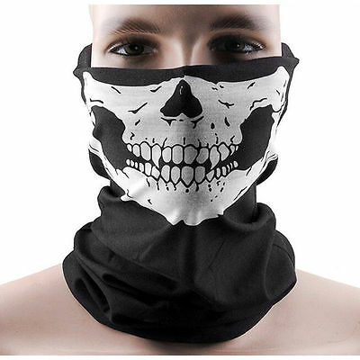 Men Women Skull Skeleton Motorcycle Paintball Scarf Sandstorm Bandana Unisex