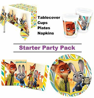 Disney Zootropolis | Judy 8-48 Guest Starter Party Pack - Cups, Plates, Napkins