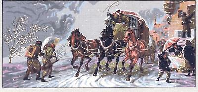Gobelin L Tapestry/Needlepoint Canvas - The Winter Stage Coach
