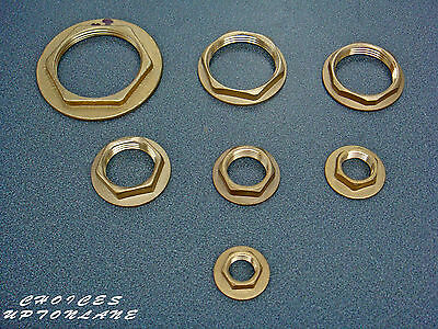 """Brass Flanged Backnut Bsp In Sizes (3/8"""",1/2"""",3/4"""",1"""",1-1/4"""",1-1/2"""",2"""")"""