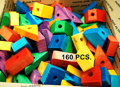 Colored wood wooden blocks pet bird parrot toy parts macaw african grey amazon