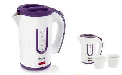 Swan Travel Kettle 0.5 Liter  Dual Voltage Set Of Electric Kettle With 2 Cups