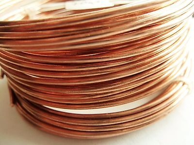 Unplated Copper Round Wire 1.7 mm  4,6 m Jewelry Making / Wire Craft
