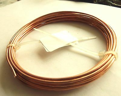 Unplated Copper Round Wire 2.5 mm  4,15 m Jewelry Making / Wire Craft